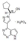 Ruxolitinib phosphate structure