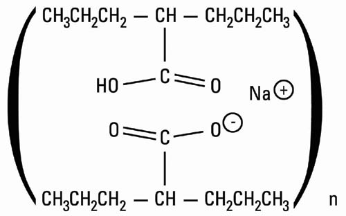 Chemical structure for divalproex sodium