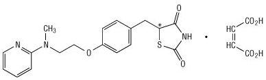 rosiglitazone maleate chemical structure