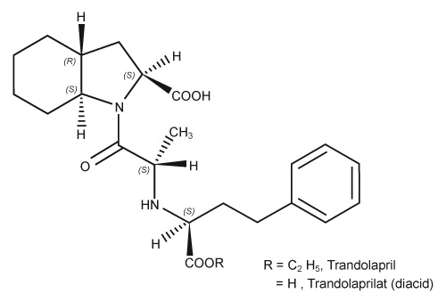 Structural formula for Trandolapril.