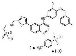 lapatinib ditosylate monohydrate chemical structure