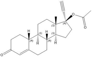 Norethindrona Acetate structure