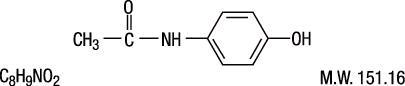 acetaminophen chemcial structure
