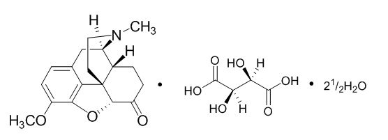 hydrocodone-bitartrate-structure