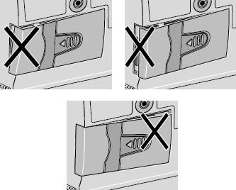 improper closed battery door
