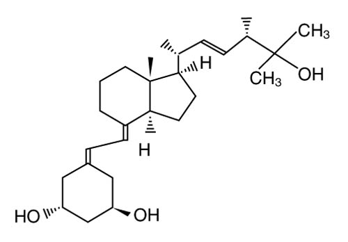 Chemical structure for paricalcitol.