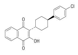 atovaquone molecular structure